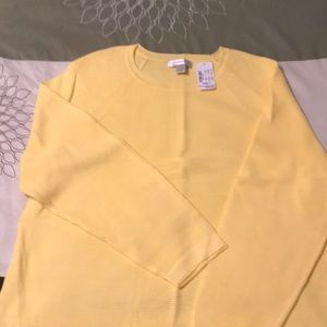 CJ Banks yellow sweater